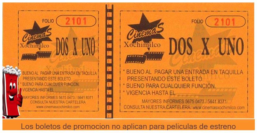 Los boletos de promocion no aplican para peliculas de estreno.